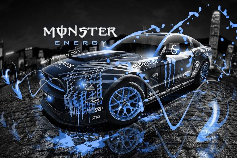Elegant Blue Monster Energy Cars el-tony