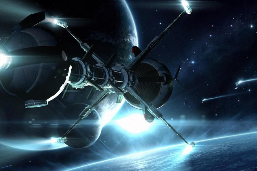 HD Sci Fi Spacecraft Spaceship Planets Stars Art Image Download .