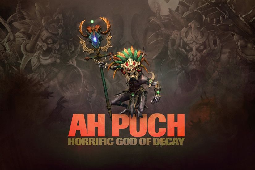 ... SMITE - Ah Puch, God of Decay (Wallpaper) by Getsukeii