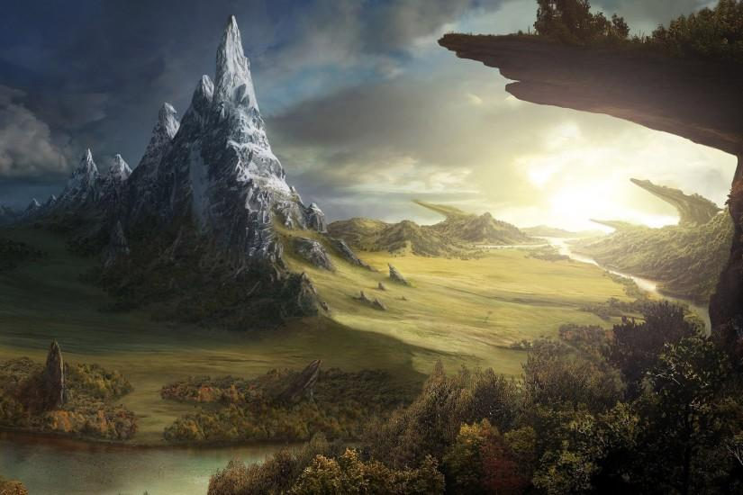 fantasy landscape wallpaper 1920x1200 for desktop
