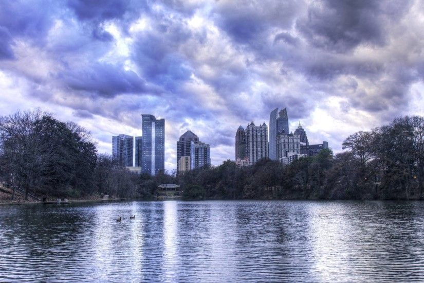 Atlanta Skyline Wallpapers Wallpaper Cave