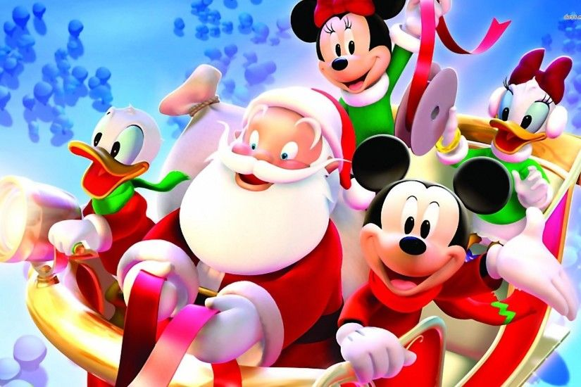 Christmas Wallpaper Mickey Mouse