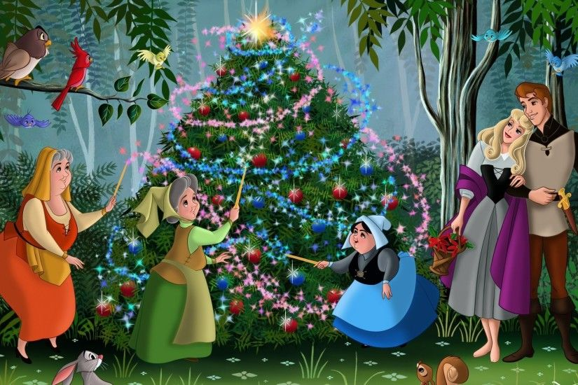 sleeping beauty walt disney christmas christmas tree fanart movie animated  film fairytale princess aurora phillip forest