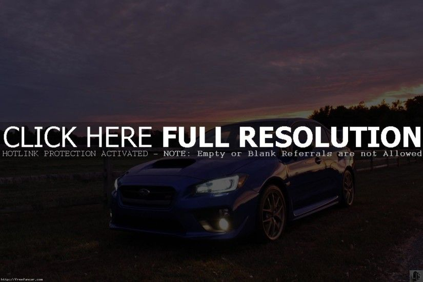 2015 SUBARU WRX STI AT NIGHT WALLPAPER