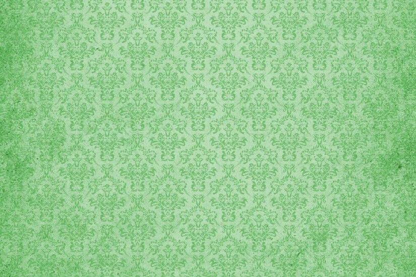 Damask Vintage Background Green