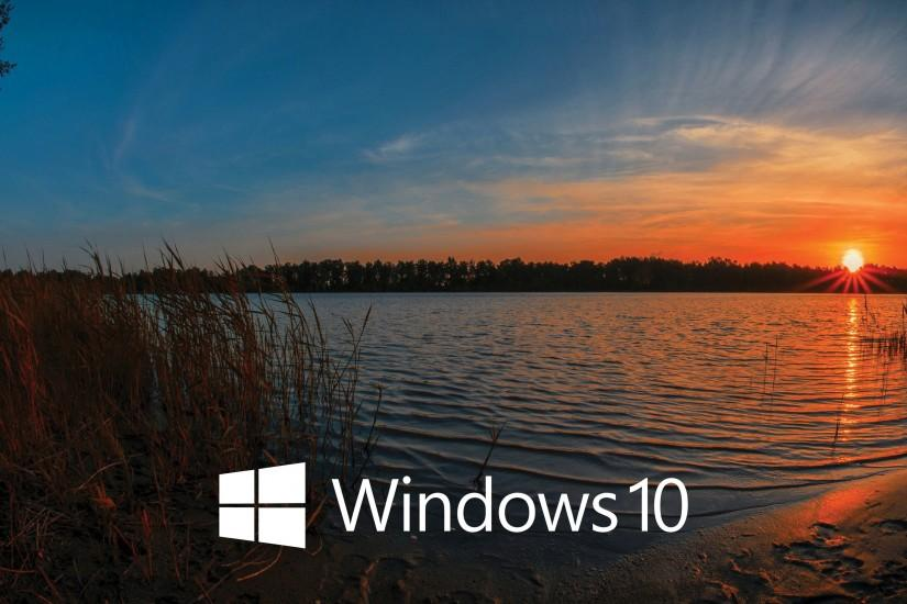 Windows 10 white text logo in the sunset wallpaper 3840x2160 jpg