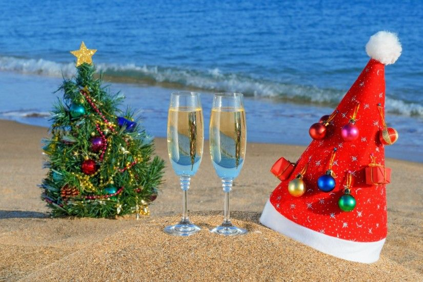 sand new year beach hats hat ocean summer christmas tree sea cups sea  christmas tree summer