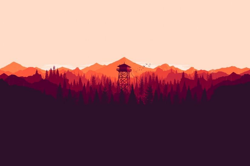 full size firewatch wallpaper 3840x2160 for phone
