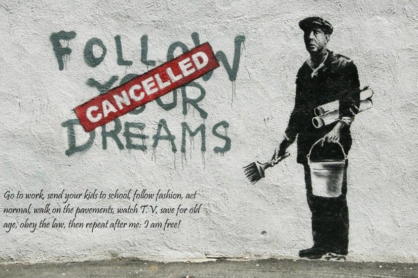 1920x1200 graffiti-banksy-street-art-hd-wallpaper | Caliber Magazine