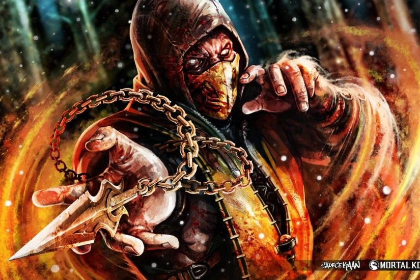 Mortal Kombat Scorpion Wallpaper Free #jkn