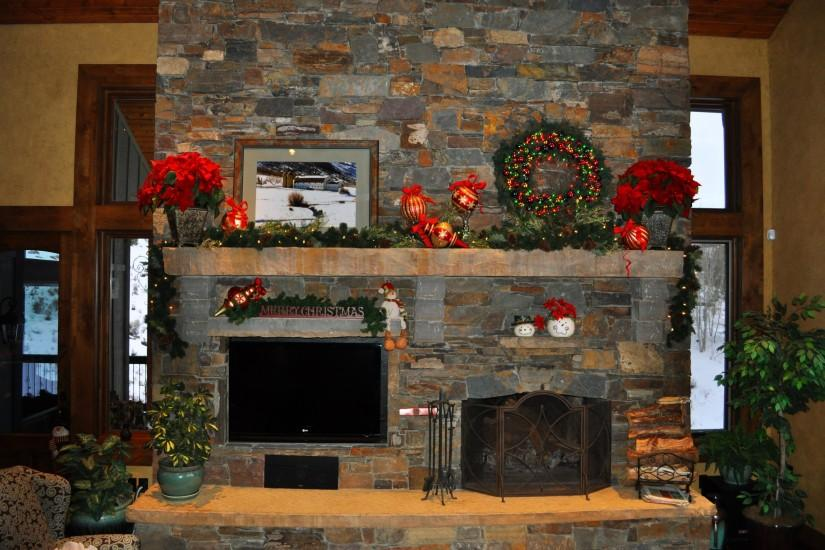 Holidays Christmas ( New year ) Fireplace wallpaper | 2590x1720 | 183382 |  WallpaperUP