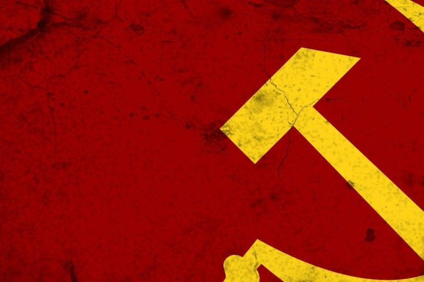 Download Wallpaper 1920x1080 hammer and sickle, soviet union .
