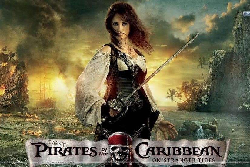 "You are viewing wallpaper titled ""Angelica With Sword in Pirates of the Caribbean  4"" ..."