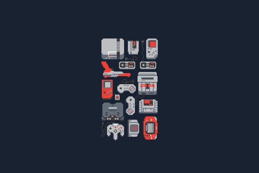 video Games, Consoles, Nintendo Entertainment System, SNES, GameBoy, Nintendo  64, GameBoy Advance, 8 bit, Minimalism Wallpapers HD / Desktop and Mobile  ...