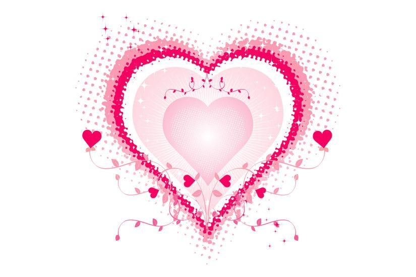 Definition Widescreen Valentine Sparkly Hearts Love High