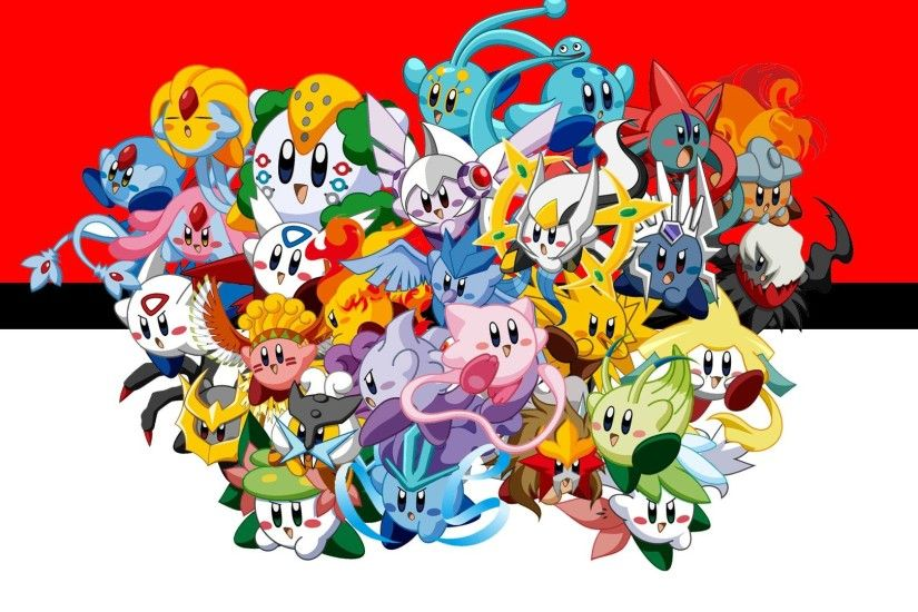 Beautiful All Pokemon Background.