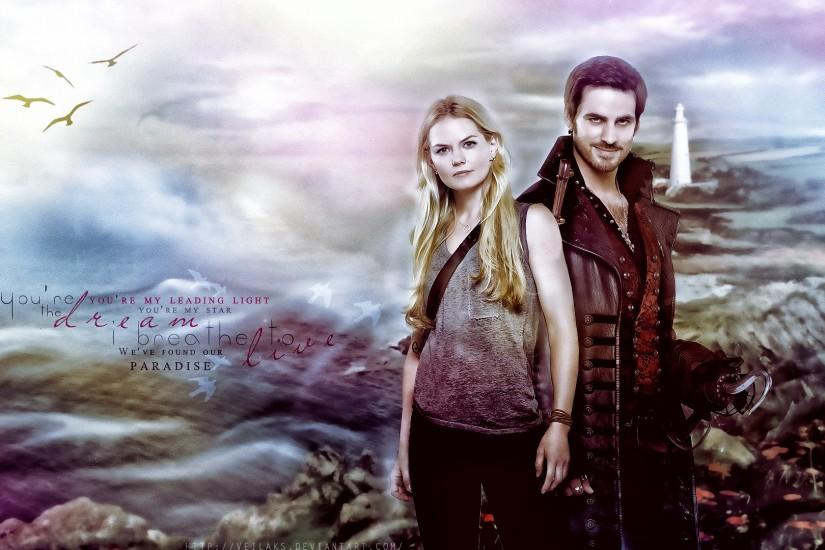 Hook And Emma Once Upon a Time Wallpaper Once Upon a Time Captain Hook
