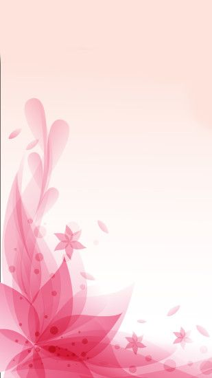 Pretty flowers on pink background
