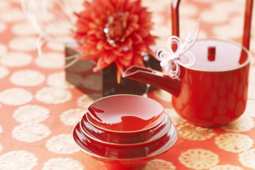 Time Tag - Teabox Tea Teacups Japanese Red Beautiful Teapot Time Flower  Flowers Wallpapers Collection for