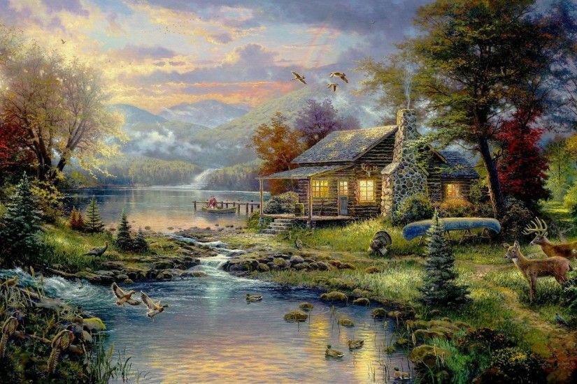 Disney Thomas Kinkade Wallpaper HD, HD Thomas Kinkade HD .