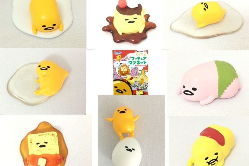 SANRIO Gudetama Figure Magnets x 8 COMPLETE SET Miniatures Official JAPAN