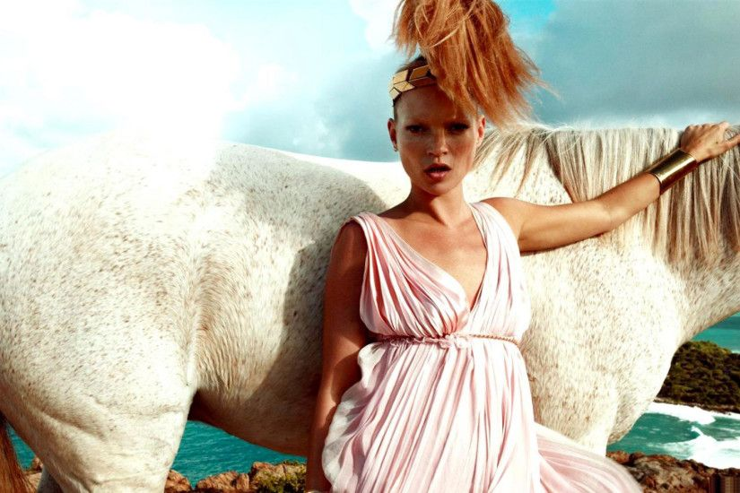 Kate Moss Horse Wallpaper HD