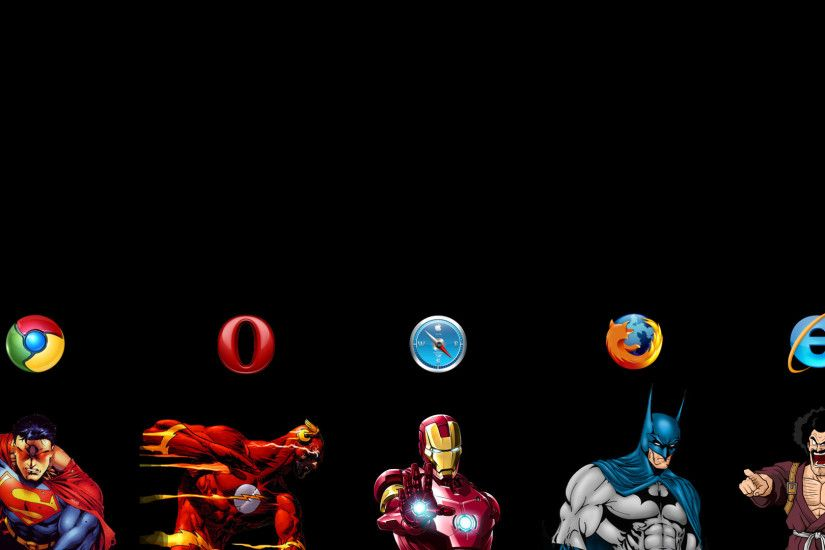 Batman Browsers Chrome Comparisions Firefox Internet Explorer Opera Safari  Symbols