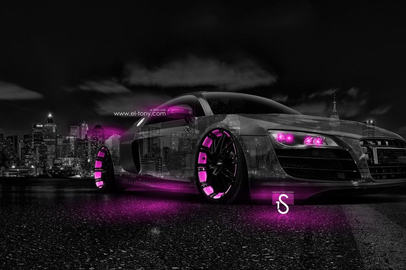 ... Audi-R8-Crystal-City-Car-2014-Pink-Neon- ...