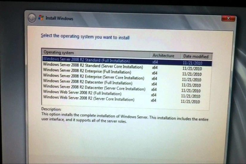 Installing Windows server 2008r2 (Enterprise Edition)