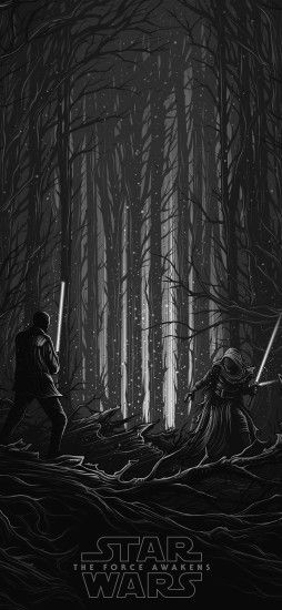 iPhoneXpapers.com | iPhone X wallpaper | ap48-starwars-illustration-bw-dark- art-film