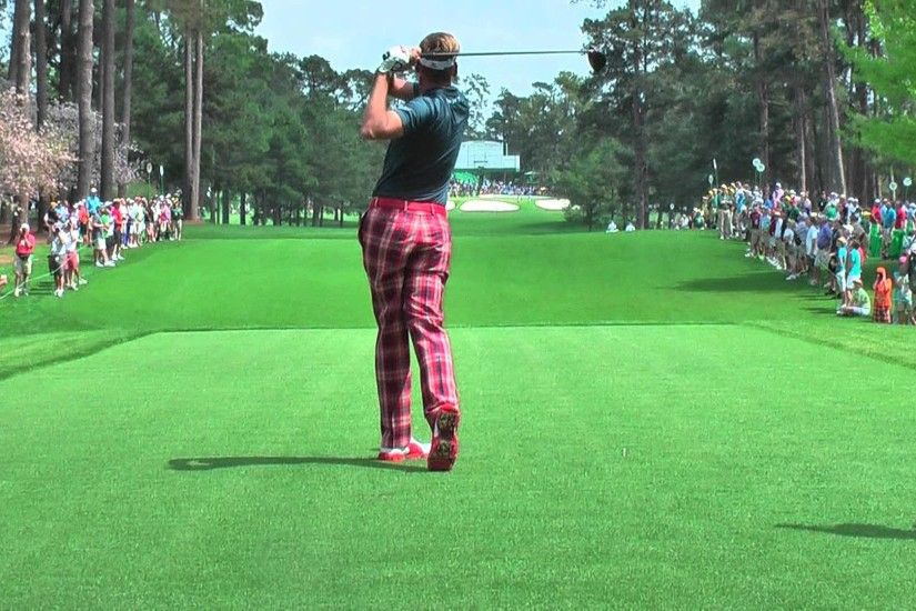Ian Poulter and Justin Rose practicing on the 7th hole Augusta National  2013 - YouTube