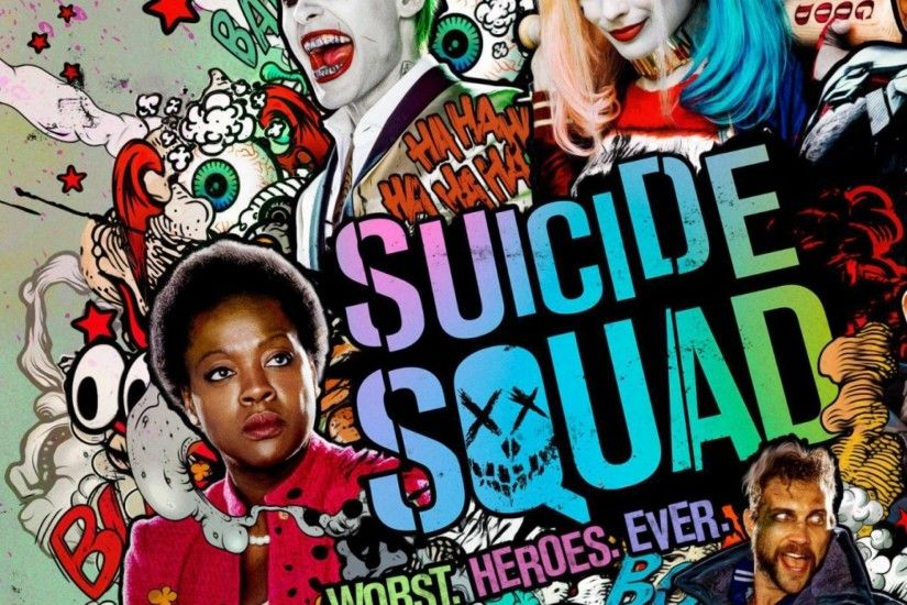 Preview wallpaper suicide squad, harley quinn, deadshot, joker, captain  boomerang, enchantress