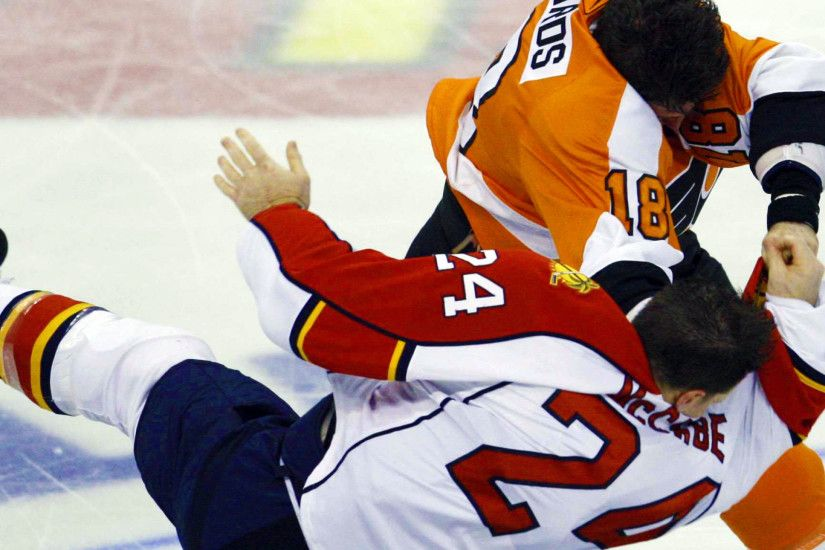 Preview wallpaper hockey, fight, ice, players 2560x1440