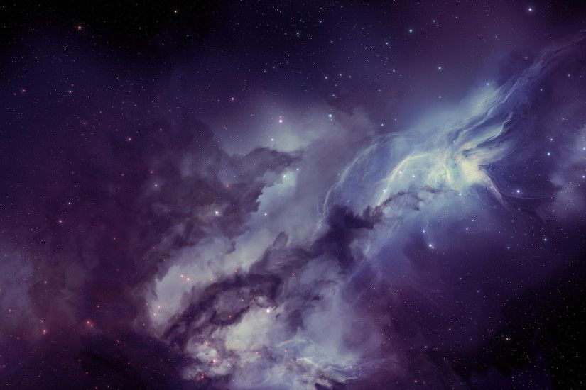 Preview wallpaper galaxy, nebula, blurring, stars 2560x1440