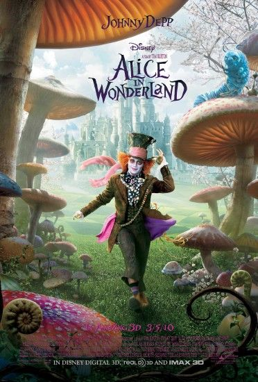 Mad Hatter – Alice in Wonderland Movie Poster wallpaper - Click picture for  high resolution HD wallpaper
