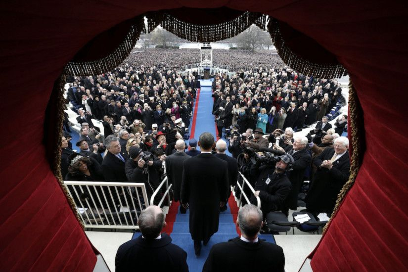 Obama 2nd Inaugural Wallpaper Artistic Crowds At Washington DC National  Mall …