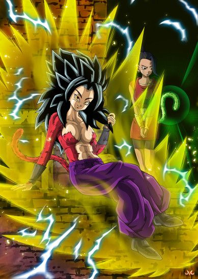hsvhrt 1,029 284 Caulifla SSJ4 and Kale by Maniaxoi