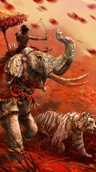 ... 4 Far Cry Tiger Elephant. Wallpaper 173693