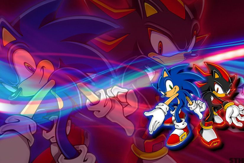 Sonic And Shadow Wallpaper by SonicTheHedgehogBG