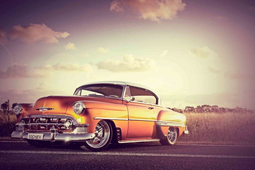 classic chevrolet orange wallpaper