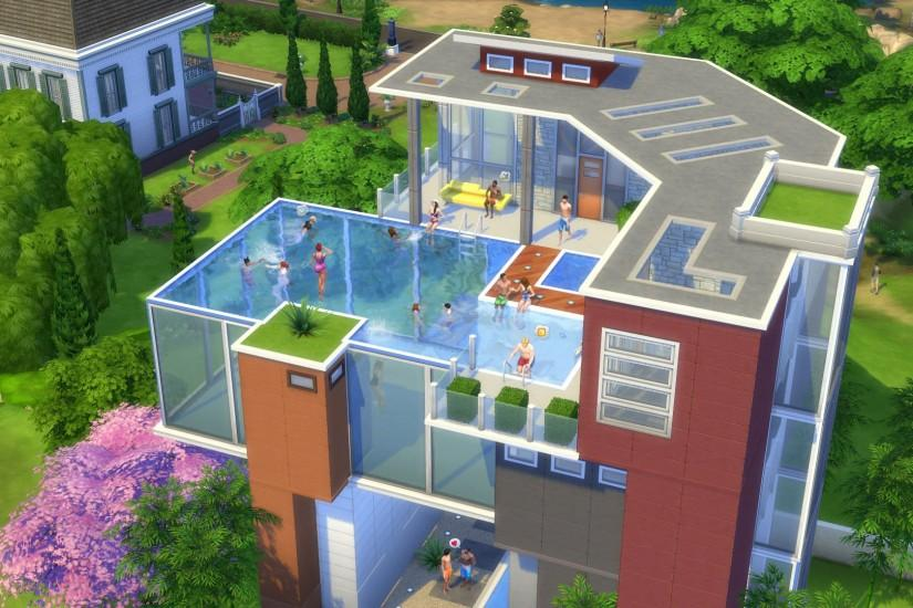 The Sims 4 Rooftop Pools