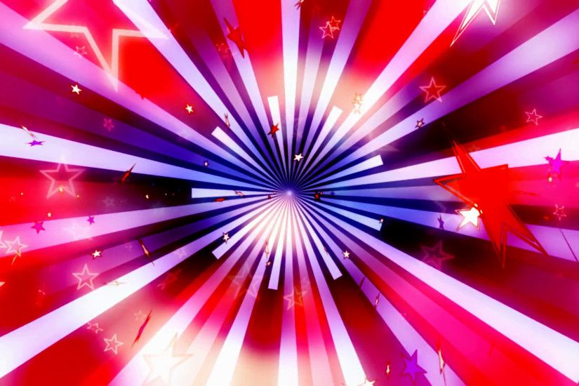 Subscription Library Patriotic Retro Stars Looping Animated Background