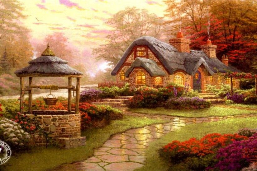 ... thomas kinkade wallpapers for desktop 64 images ...