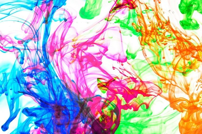 colour abstract paint flowers background