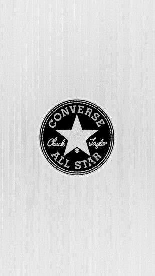 Converse All Star Chuck Taylor Logo Light Android Wallpaper ...