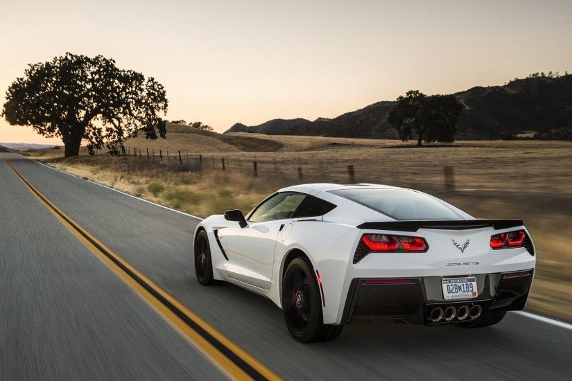 2014 Corvette C7 Stingray White HD Wallpaper