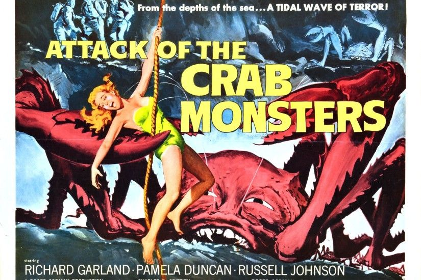 Attack of The Crab Monsters Movie Poster wallpaper | 2709x2113 | 78578 |  WallpaperUP