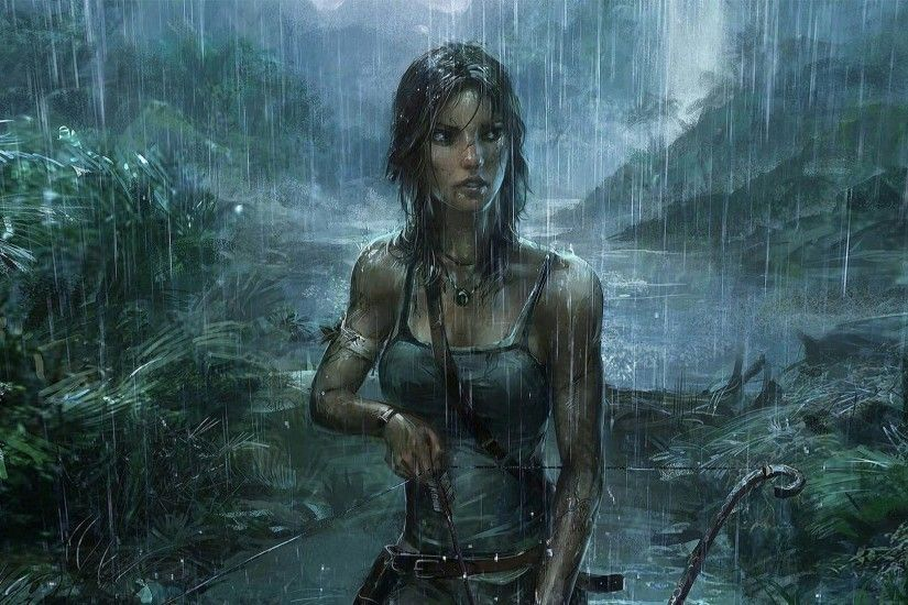 Lara Croft Tomb Raider Desktop Wallpaper - Back Wallpapers