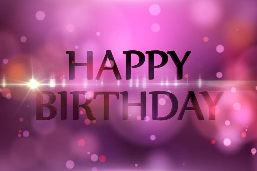Happy Birthday - Motion Graphics Background - Light and Bokeh - YouTube