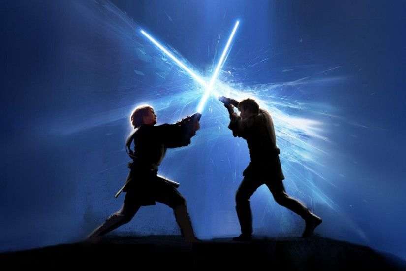 wallpaper Star Wars · fight · lightsabers